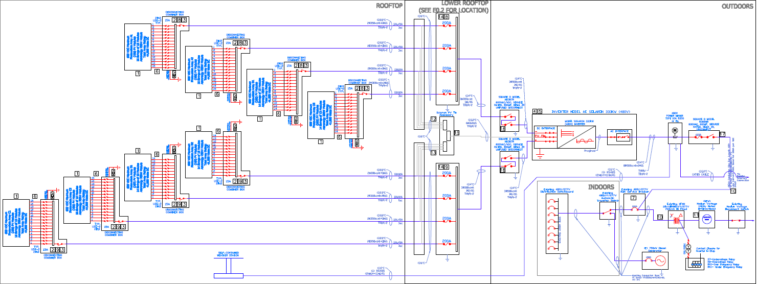 Solar Power Plant Line Diagram Pv System Wiring Images